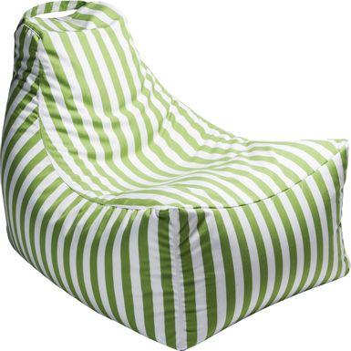 Kids Summerly Green/White Indoor/Outdoor Bean Bag Chair