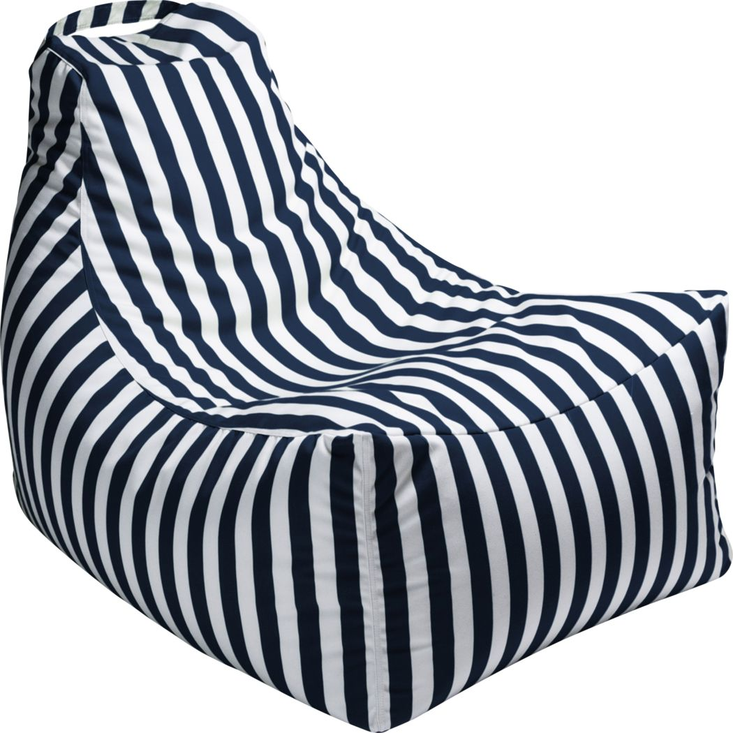 Kids Summerly Navy/White Indoor/Outdoor Bean Bag Chair