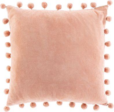Kids Sunset Oasis Pink Accent Pillow
