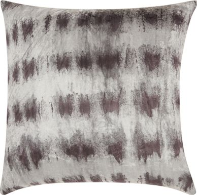 Kids Tie Dye Haze Black Accent Pillow