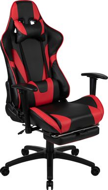 Kids Trexxe Red Gaming Chair with Footrest