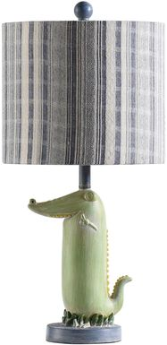 Kids Tropical Crocodile Green Lamp