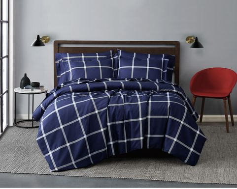 Kids Urban Covers Navy 3 Pc Full/Queen Comforter Set