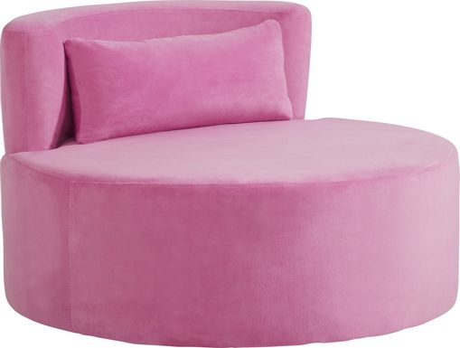 Kids Valencia Pink Swivel Chair