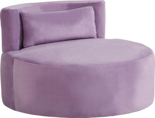 Kids Valencia Purple Swivel Chair