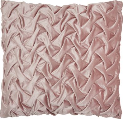 Kids Velvet Ruche Pink Accent Pillow
