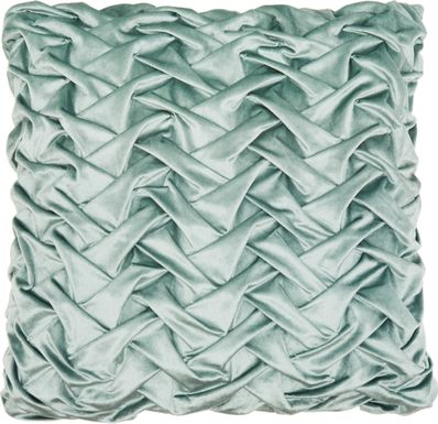 Kids Velvet Ruche Teal Accent Pillow