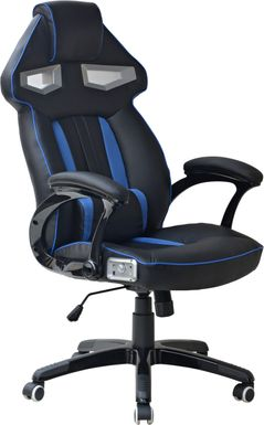 Kids Venture Quest Black/Blue Gaming Desk Chair