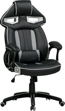 Kids Venture Quest Black/Gray Gaming Desk Chair