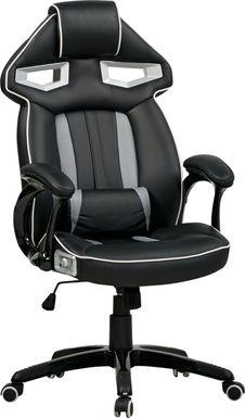 Kids Venture Quest Black/Gray Gaming Desk Chair