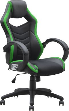 Kids Venture Quest Black/Green Gaming Desk Chair