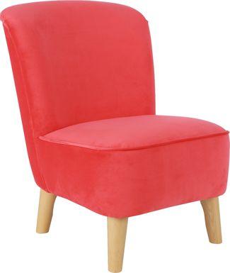 Kids Vonny Red Accent Chair
