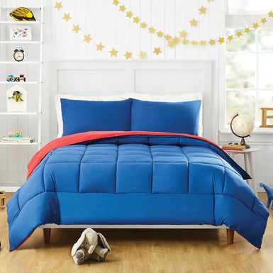 Kids Vroomy Blue 2 Pc Twin Comforter Set