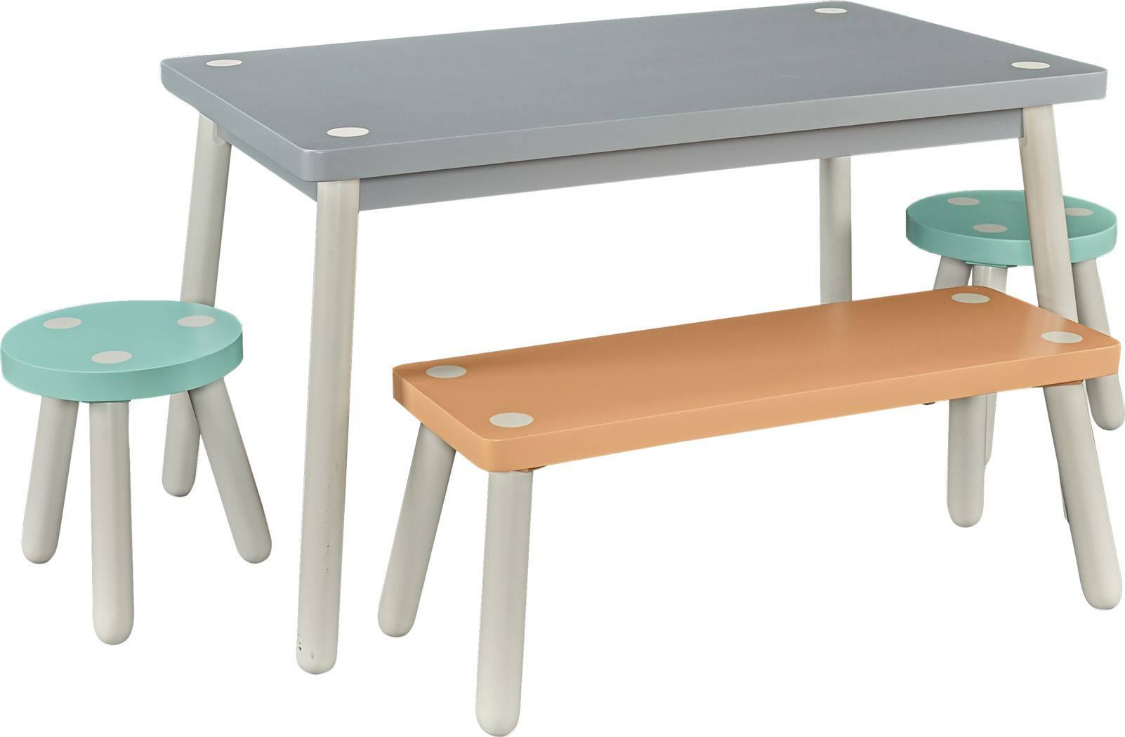 Kids Wafer Gray 4 Pc Table Set