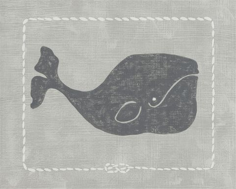 Kids Whales of Deep I Gray Artwork