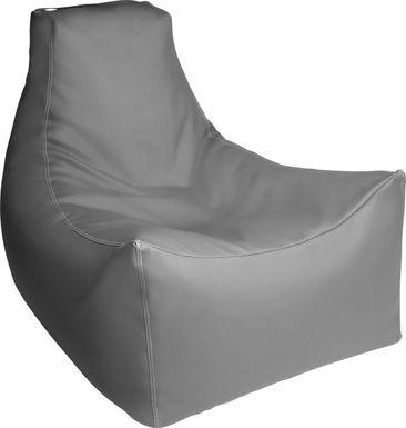 Kids Wilfy Gray Large Bean Bag Chair