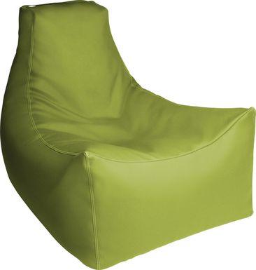 Kids Wilfy Green Large Bean Bag Chair
