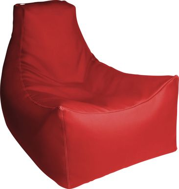 Kids Wilfy Red Large Bean Bag Chair