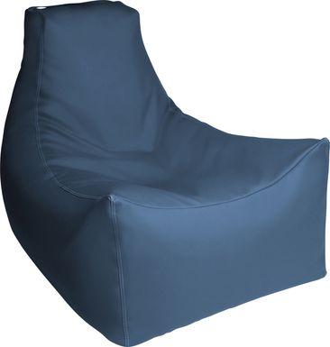 Kids Wilfy Royal Blue Large Bean Bag Chair
