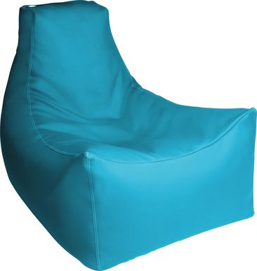 Kids Wilfy Turquoise Large Bean Bag Chair