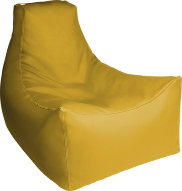 Kids Wilfy Yellow Large Bean Bag Chair