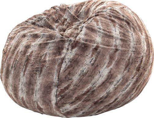 Kids Winter Dream Brown Faux Fur Bean Bag