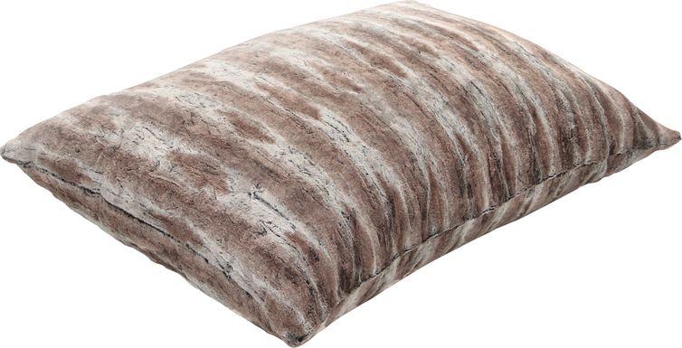 Kids Winter Dream Brown Faux Fur Floor Pillow