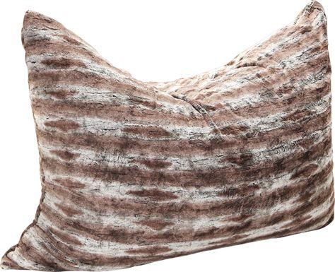 Kids Winter Dream Brown Large Faux Fur Floor Pillow