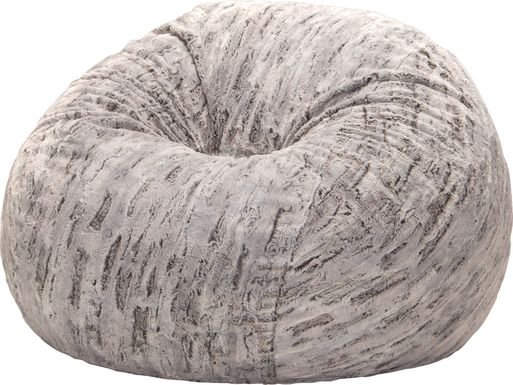 Kids Winter Dream Silver Faux Fur Bean Bag