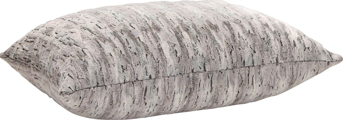 Kids Winter Dream Silver Faux Fur Floor Pillow