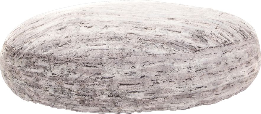 Kids Winter Dream Silver Large Faux Fur  Bean Bag