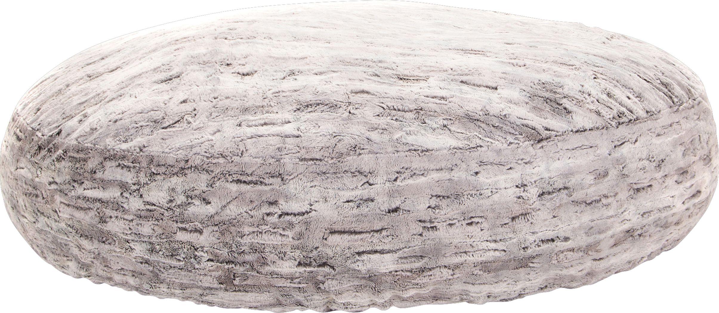 Kids Winter Dream Silver Large Faux Fur  Bean Bag