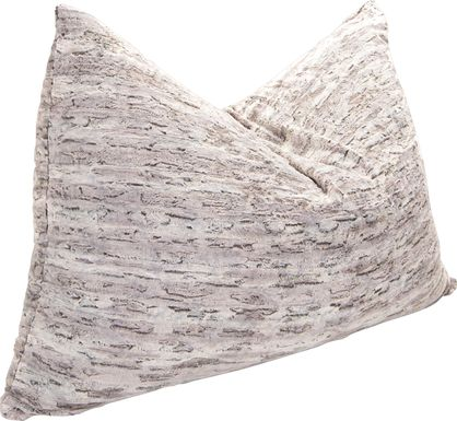 Kids Winter Dream Silver Large Faux Fur  Floor Pillow