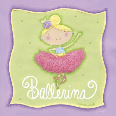 Kids Young Ballerina Green Artwork