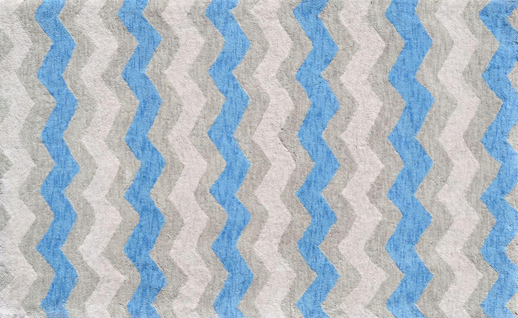 Kids Ziggy Waves Blue 2'8 x 4'8 Rug