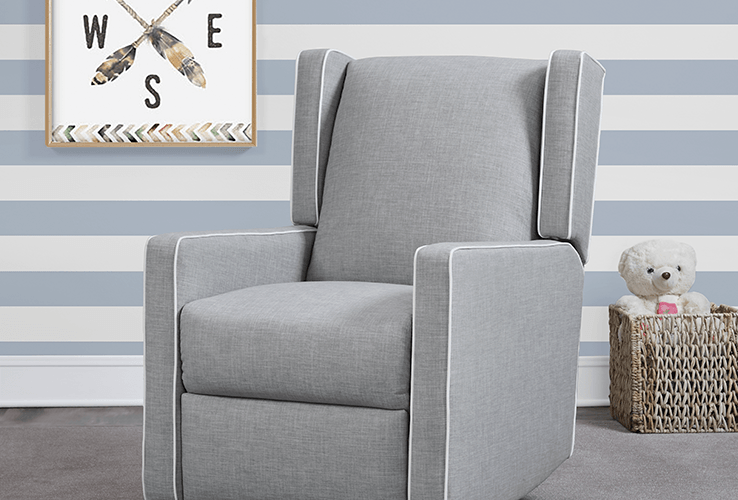 gray swivel rocker