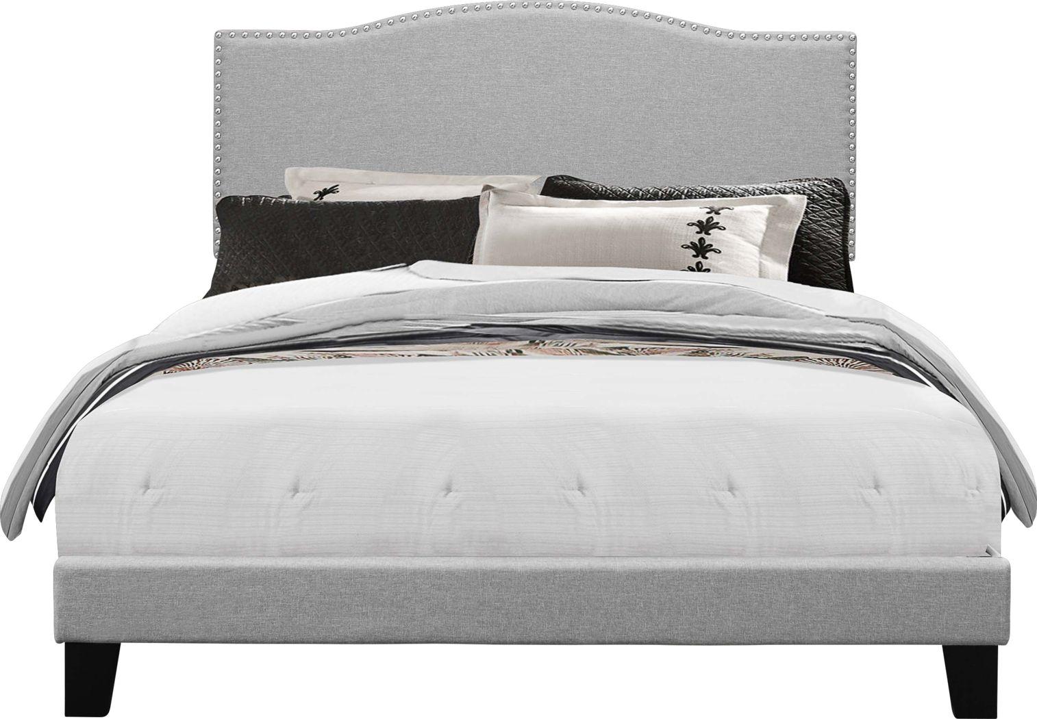 Kiley Gray Queen Upholstered Bed