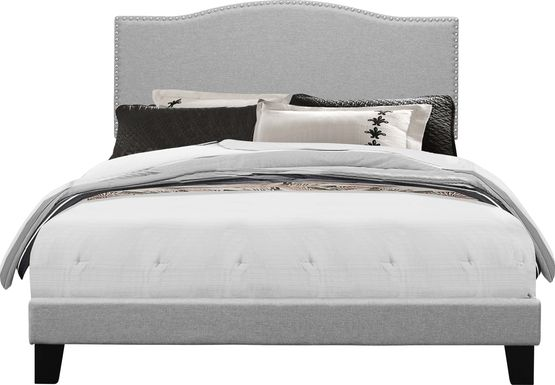 Kiley Gray Queen Upholstered Bed