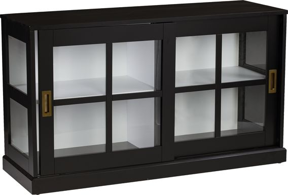 Kimmeridge Black Curio Cabinet