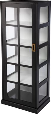 Kimmeridge Black Tall Curio Cabinet