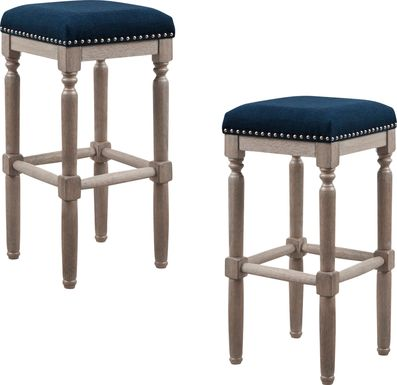 Kincheon Navy Barstool, Set of 2