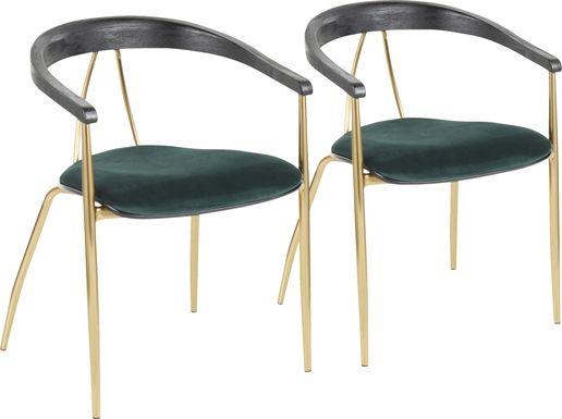 Kingrow Green Arm Chair, Set of 2