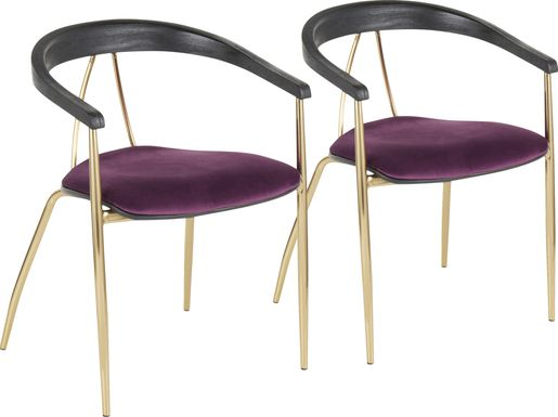 Kingrow Purple Arm Chair, Set of 2