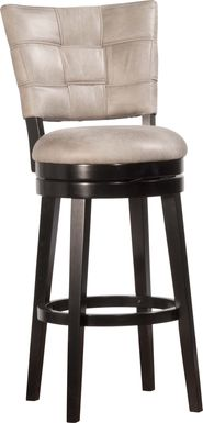 Kingsborough Light Gray Swivel Barstool