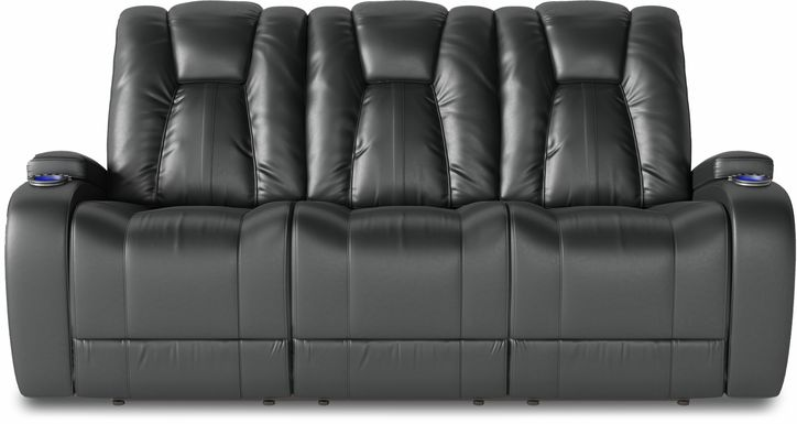 Kingvale Court Black Dual Power Reclining Sofa