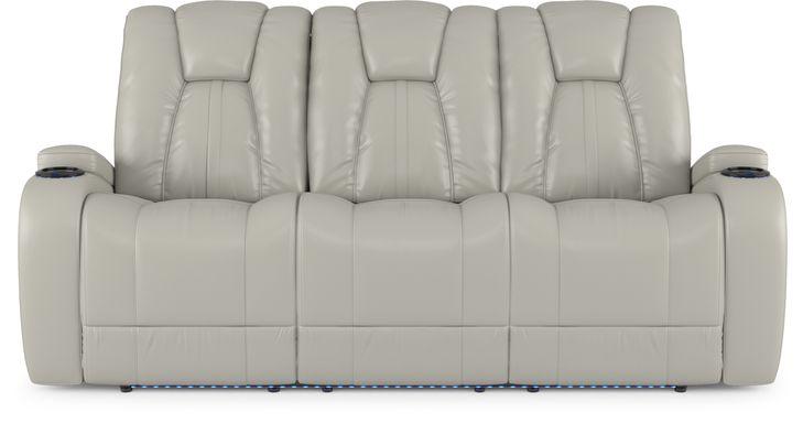 Kingvale Court Platinum Dual Power Reclining Sofa