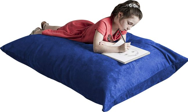 Kids Kiri Blue Small Bean Bag Chair and Floor Pillow