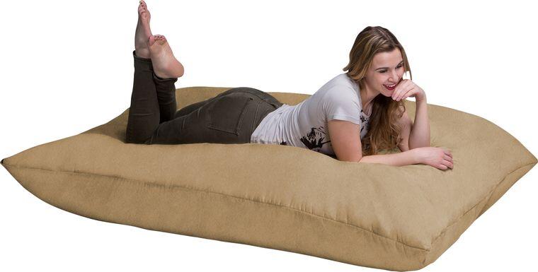 Kids Kiri Camel Large Brown Bean Bag and Floor Pillow