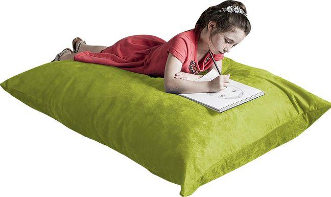 Kids Kiri Green Small Bean Bag Chair and Floor Pillow