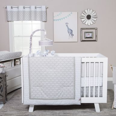 Kizzy Gray 3 Pc Baby Bedding Set